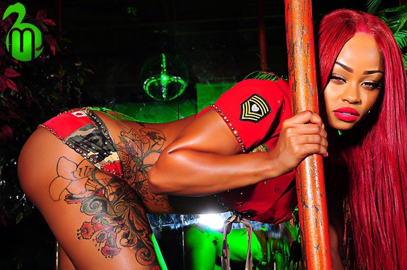 Black tattooed american strippers