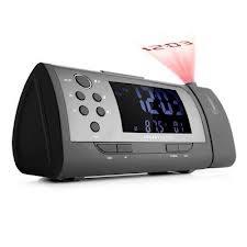 Un reloj despertador con proyector