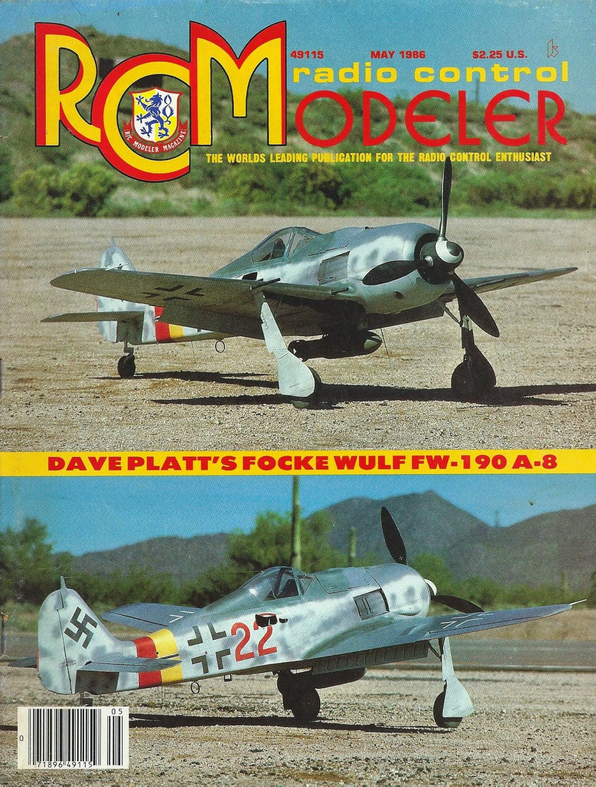 rcm *focke wulf fw-190 a-8* article and plan"