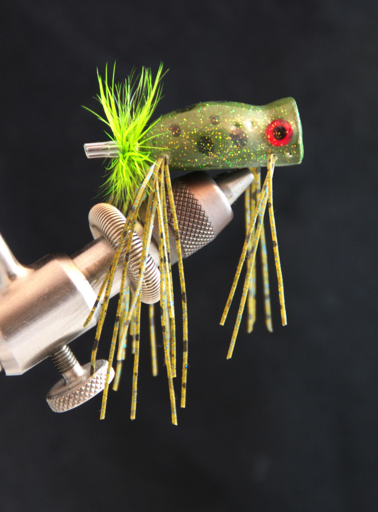 Flies for froggin 39 fly fish food fly tying and fly for Fishing poppers for bass