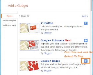 Add Google+ Gadget