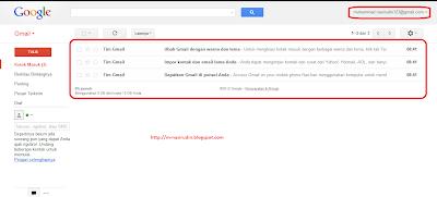 Tampilan Akun Gmail