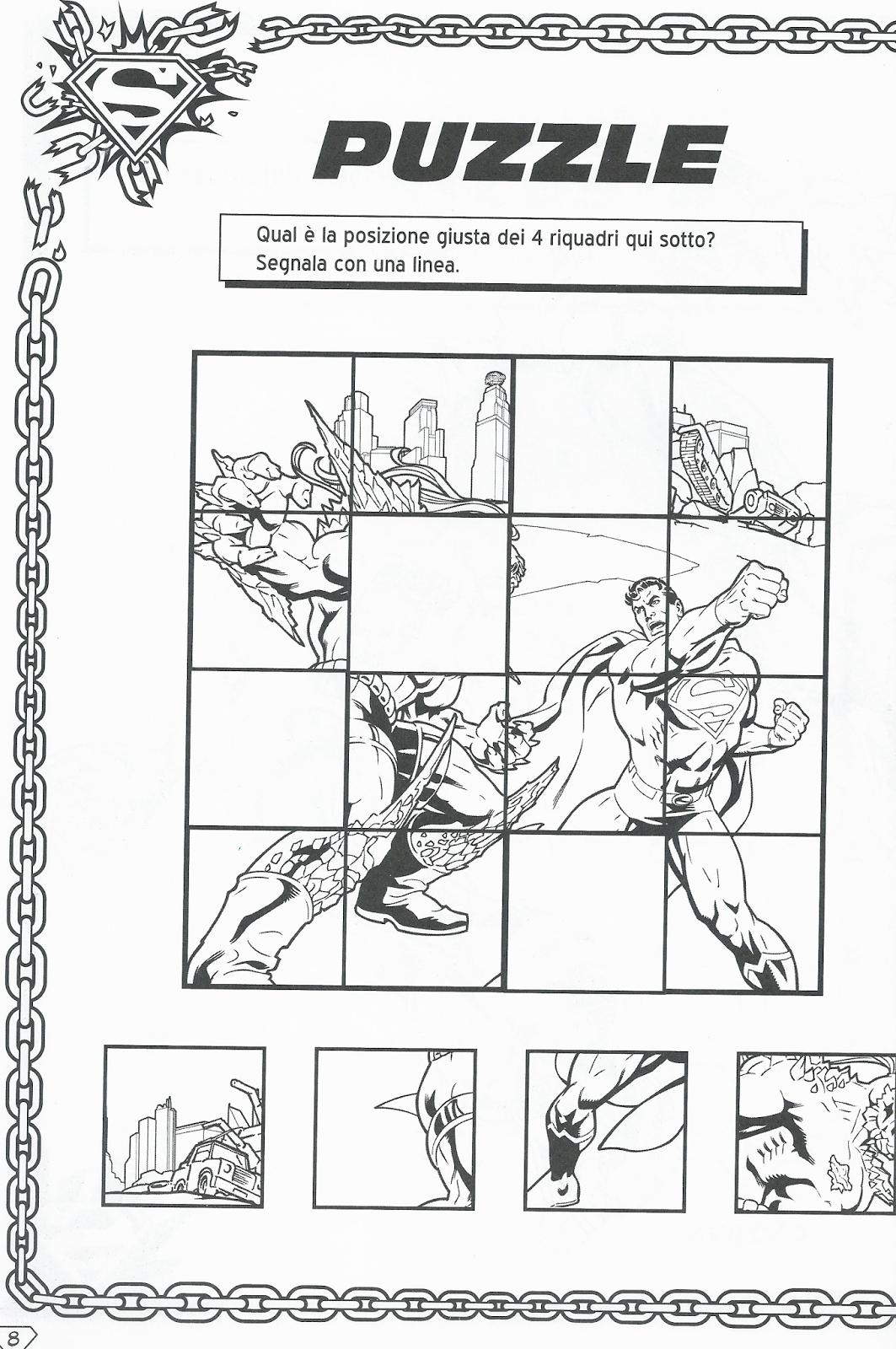 Disegni da colorare superman disegni da colorare for Enigmistica facile da stampare