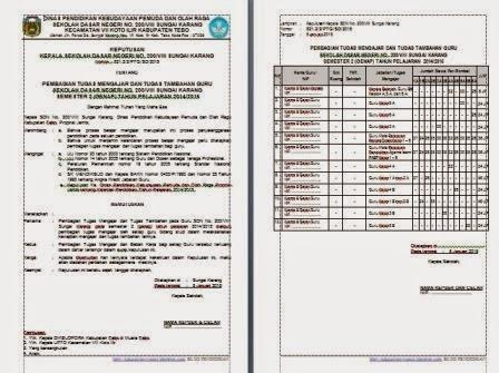 Download Contoh SK Pembagian Tugas Guru Terbaru Untuk SD