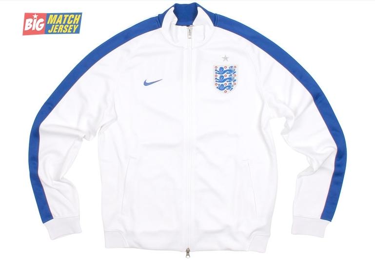 Jaket Nike Terbaru  Untuk Piala Dunia 2014 Timnas Inggris Home Putih