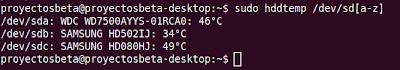 Imagen de un ejemplo de ver la temperatura de tu disco duro