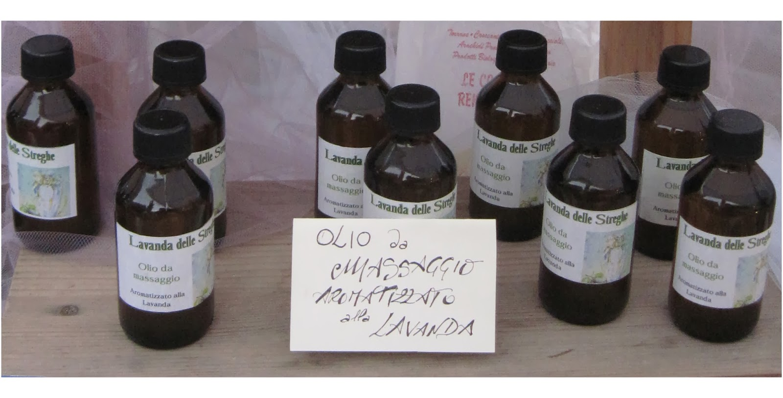 Lavanda delle streghe: olio da massaggio e fusi di lavanda