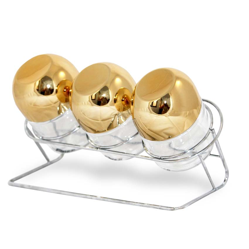 OX-353R Oxone Toples 3pc Gold Capsule with Rack