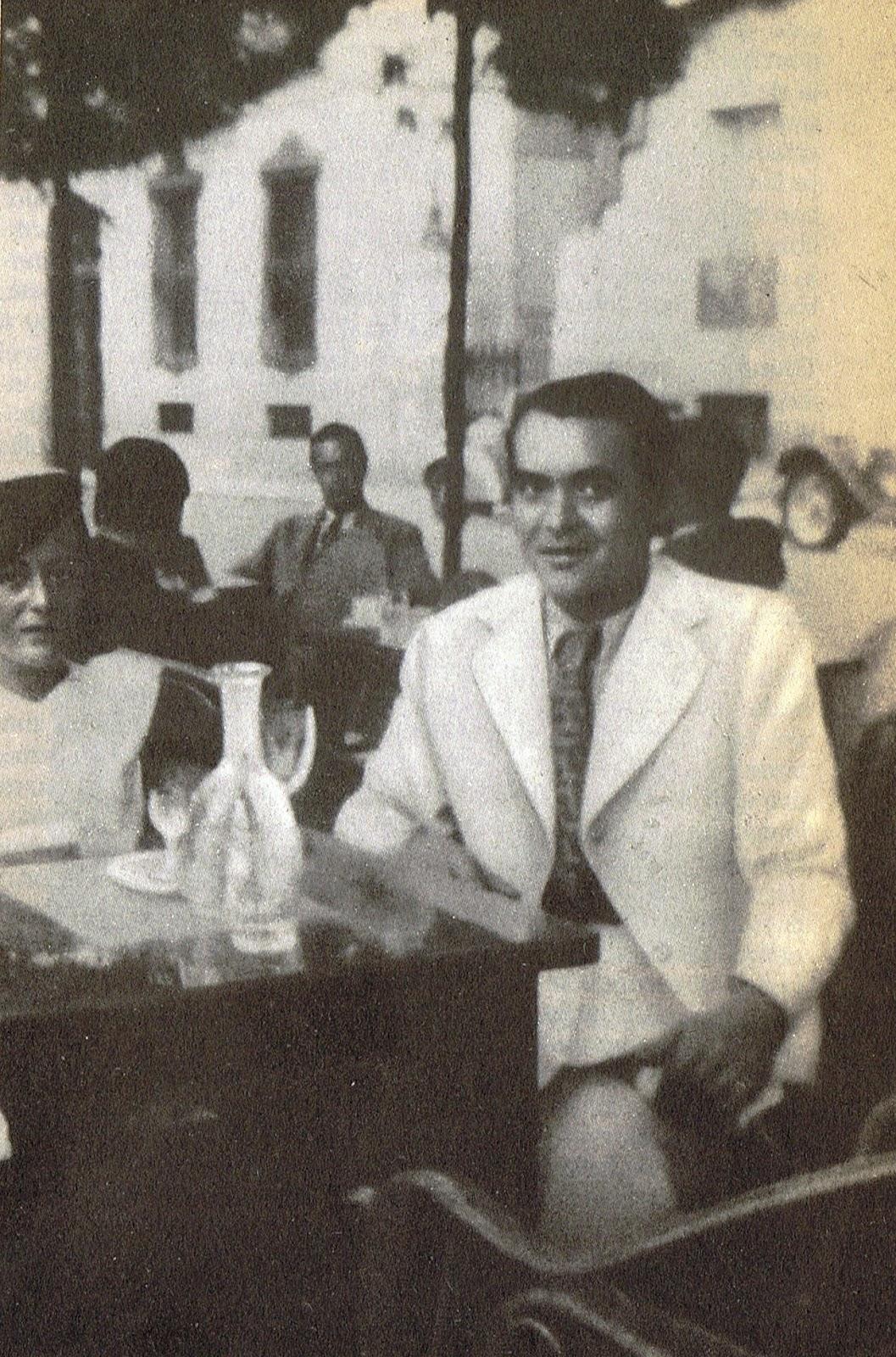 Lorca en la última foto que se le realizó en julio de 1936
