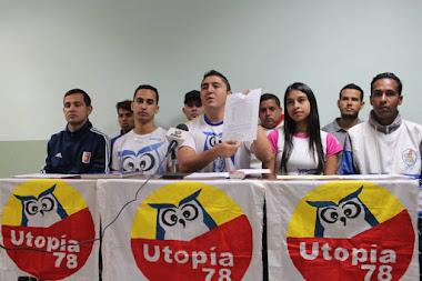Estudiantes de Utopía 78 rechazan al golpista y dictador de la ULA Mario Bonucci
