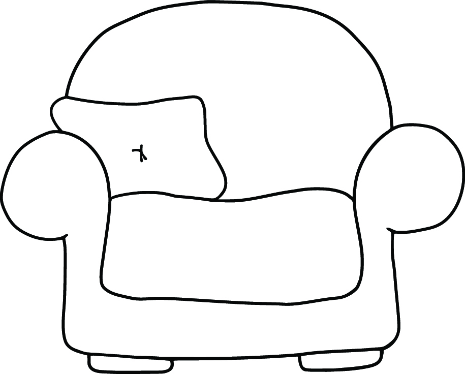 comfy chair drawing. Simple Comfy Comfy Chair Freebie On Drawing