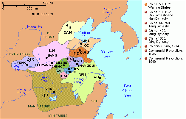 MohammedQinDynastyBlog: Qin Dynasty Map on