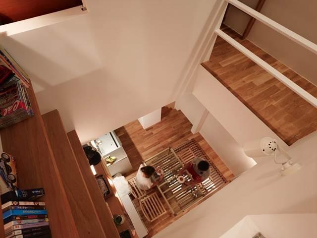 pandangan dari atas bahagian dalam rumah