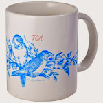 Blue Birds Tea Time Mug