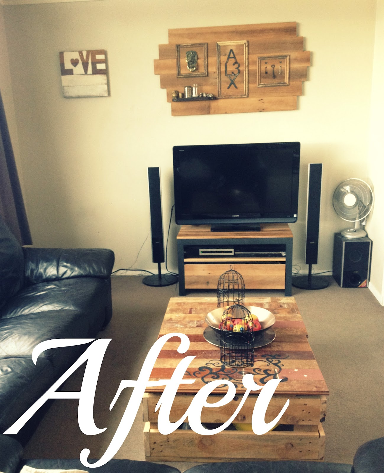 DIY Modern Rustic Living Room Make Over
