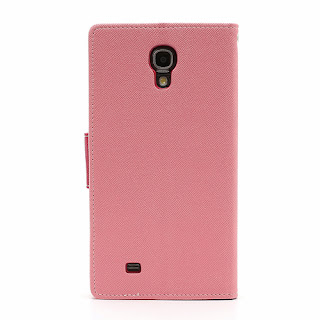 Mercury Goospery Fancy Diary Wallet Leather Case for Samsung Galaxy Mega 6.3 I9200 I9208 - Baby Pink
