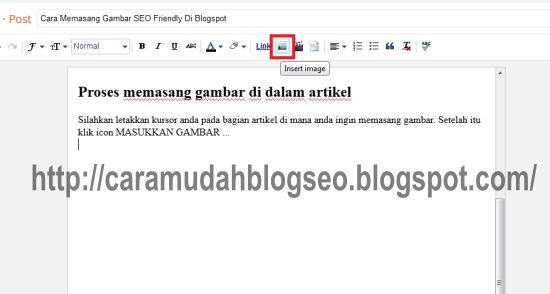 cara memasang gambar di blogspot