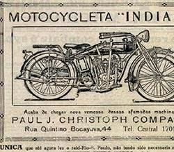 Propaganda da Motocicleta Indian em 1921: concorrente da Harley Davidson.