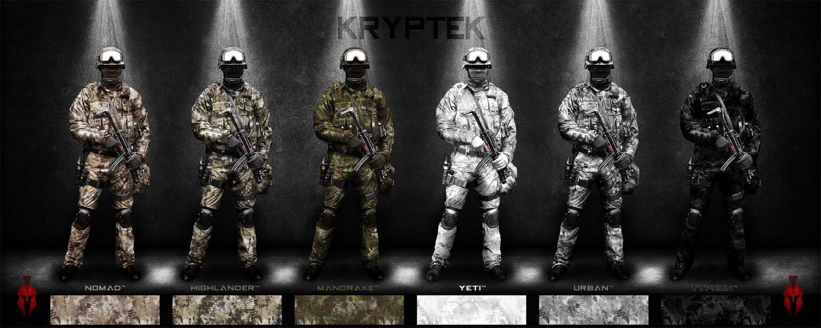Camos norteamericanos: actuales y los próximos Kryptek+camo