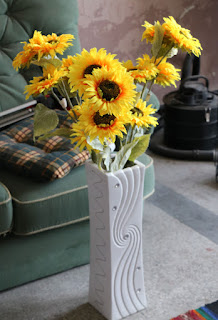 Sunflowers in our lovely vase
