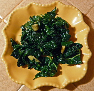 Plate of Garlic Ginger Kale