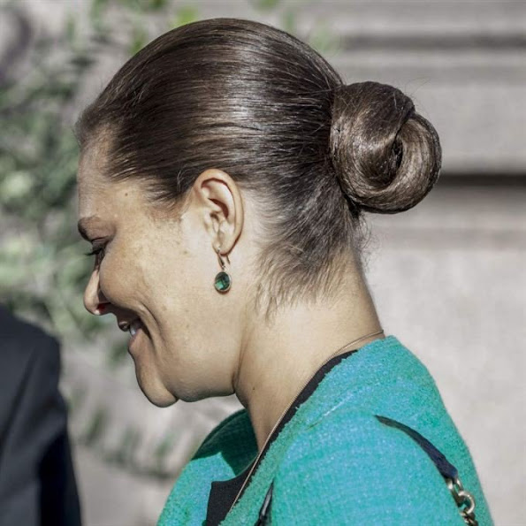 Crown Princess Victoria of Sweden attended the celebration of the International IDEA's 20th anniversary in the Parliament building