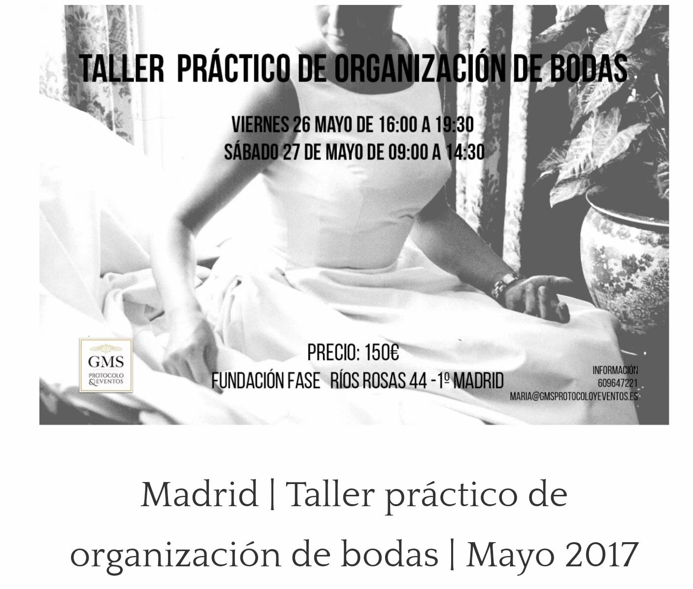 Próximos Talleres en Madrid