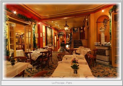 s t r a v a g a n z a le procope the oldest caf in paris. Black Bedroom Furniture Sets. Home Design Ideas