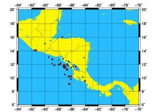 CONTINUAN LAS REPLICAS TRAS EL TERREMOTO DE 6,3 GRADOS EN NICARAGUA, 17 DE JUNIO 2013