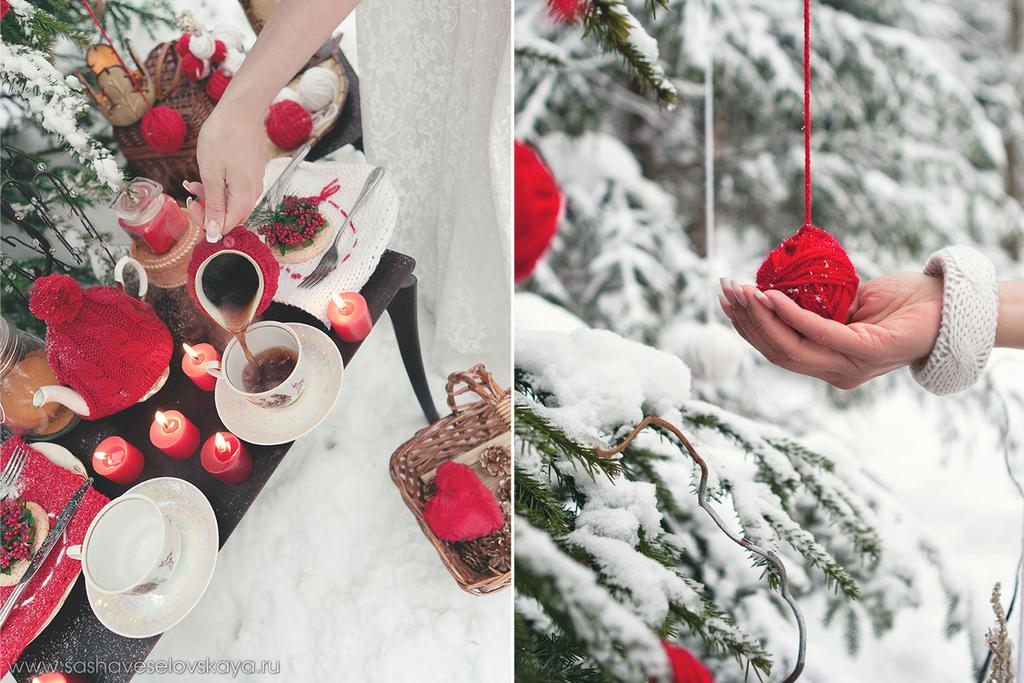 Реквизит для зимней фотосессии на улице