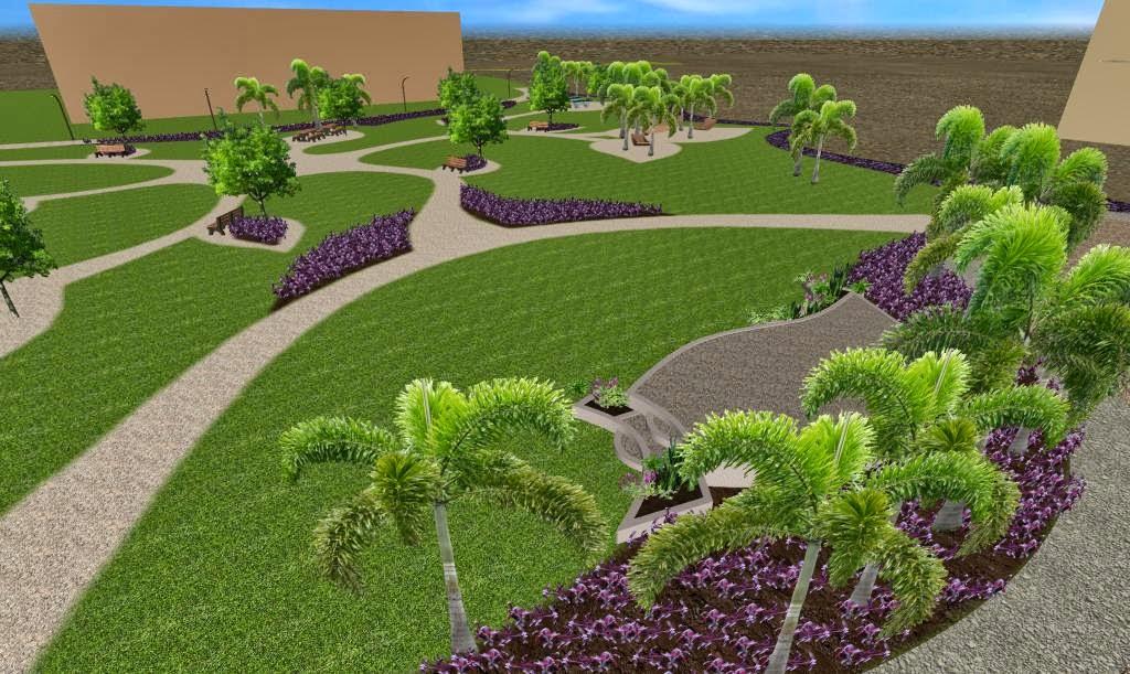 dise os 3d imagenes renders de jardines virtuales y