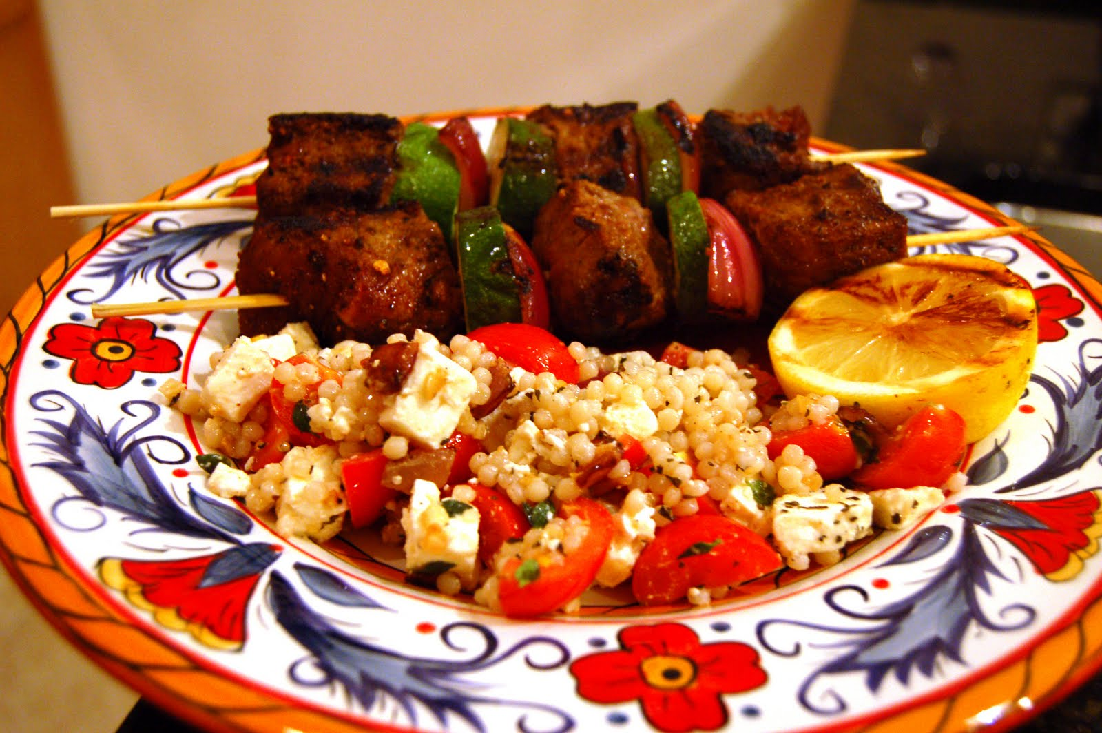 kebabs with israeli couscous recipes dishmaps lamb kebabs with israeli ...