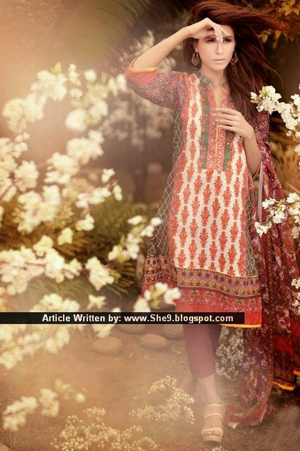 Outfitter's Ethnic Lawn Kurta 2015 for Girls
