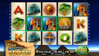 Screenshots of the Slots: Pharaoh's Way for Android tablet, phone.