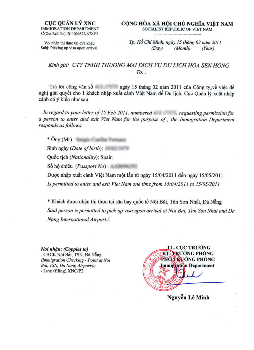 Invitation letter for vietnam vietnam approval letter vietnam invitation letter vietnam visa on arrival stopboris Choice Image