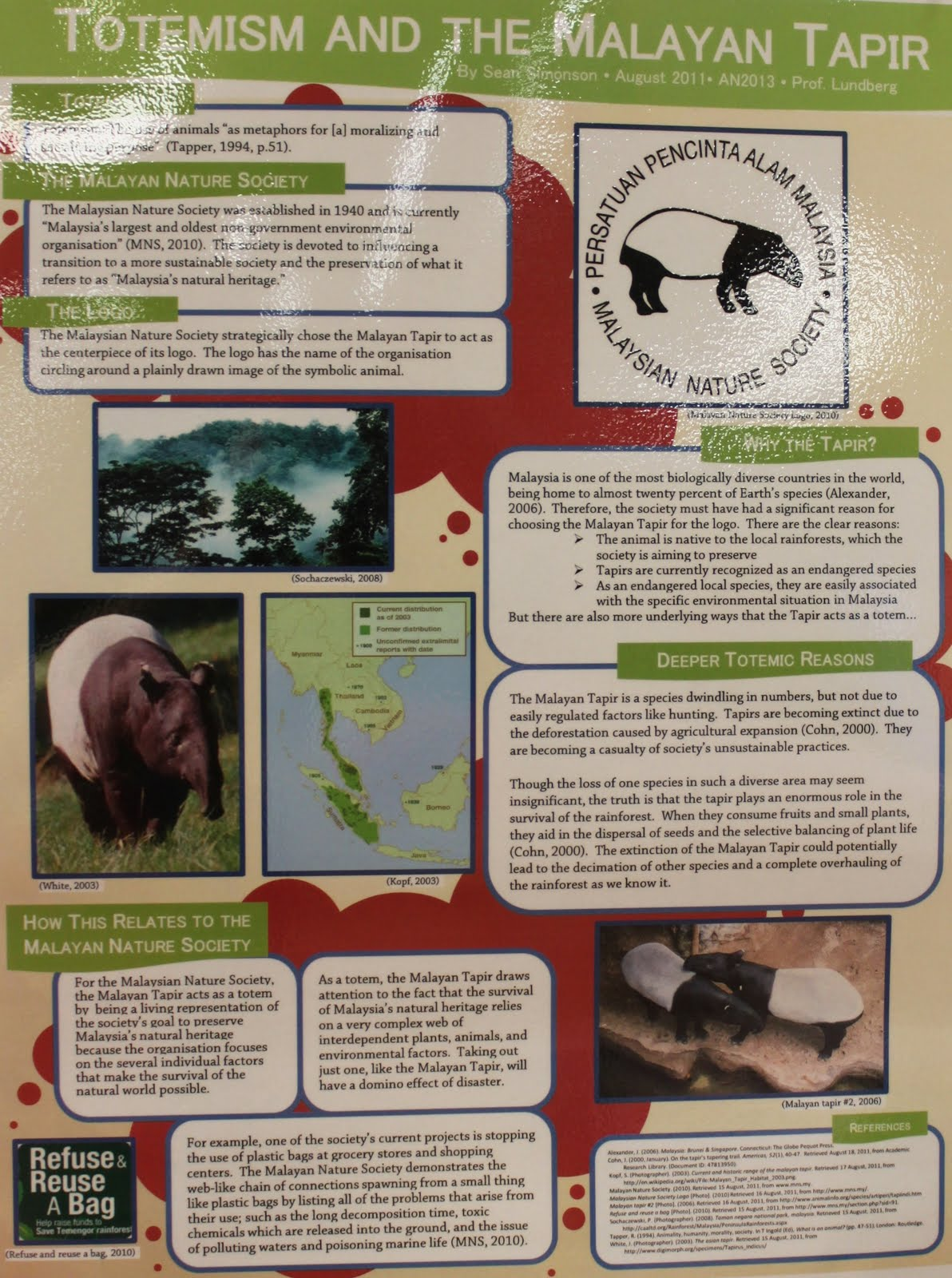 JCU Library News: Anthropology student academic posters
