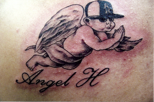 angel baby tattoos designs