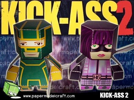 Hit-Girl Paper Toy
