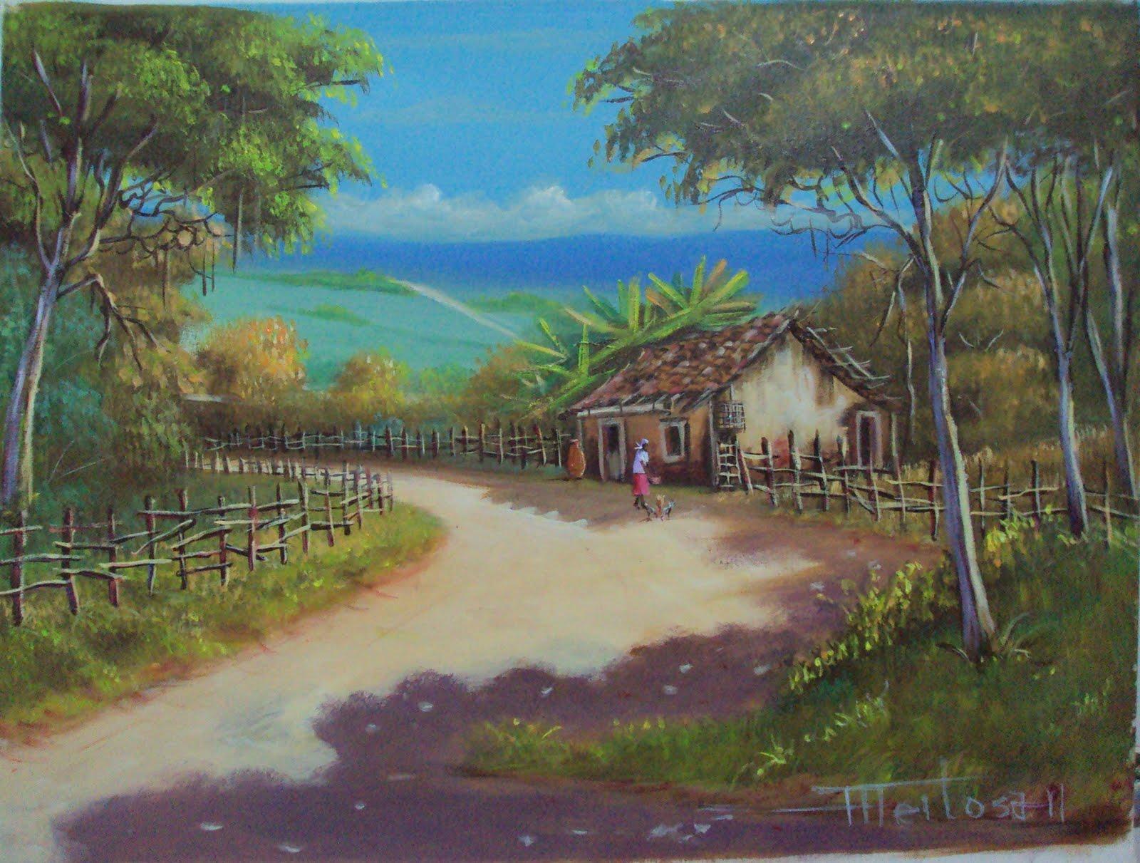 Antonio feitosa pinturas e esculturas casa de campo for Pinturas para casas de campo