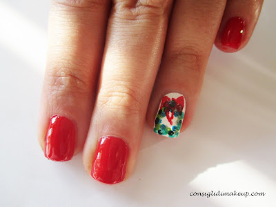 Nail art: Ghirlanda di Natale