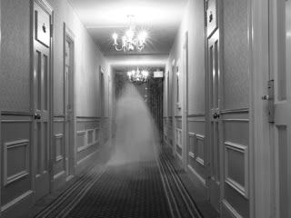 ghost in the hall at the haunted hawthorne hotel - photo by steve donna omeara