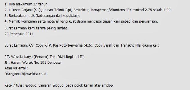 Lowongan Kerja Akunting dan Arsitek Terbaru Denpasar Bali Februari ...