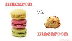macaron versus macaroon