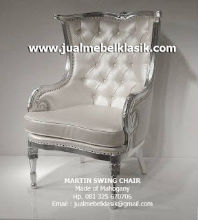 Supplier Indonesia Classic Furniture Supplier Classic Chair Mahogany Supplier Jepara silver leaf painted chair