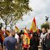 La España en Marcha defiende la Unidad de España desde lo alto de Barcelona