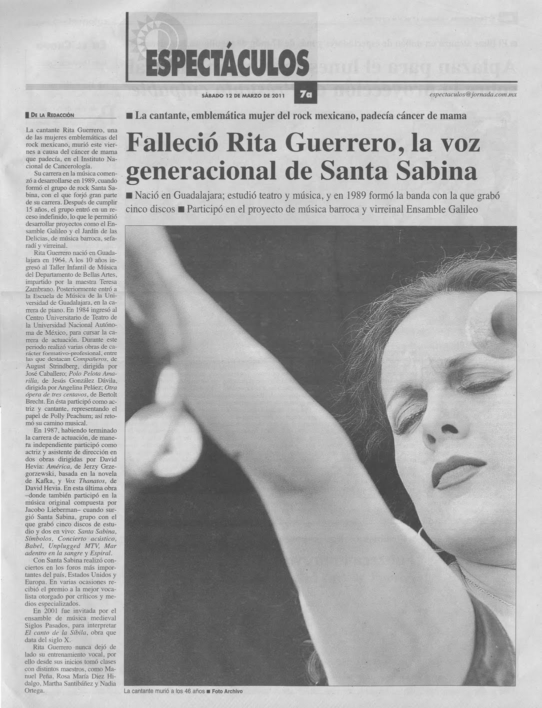 Ojalá fuera tu voz: Rita Guerrero, la voz generacional de Santa ...: http://ojalafueratuvoz.blogspot.com/2012/07/rita-guerrero-la-voz-generacional-de.html