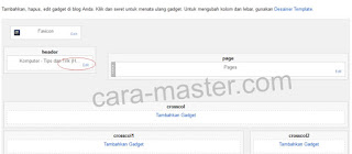 Cara Mengganti header blog dengan background gambar