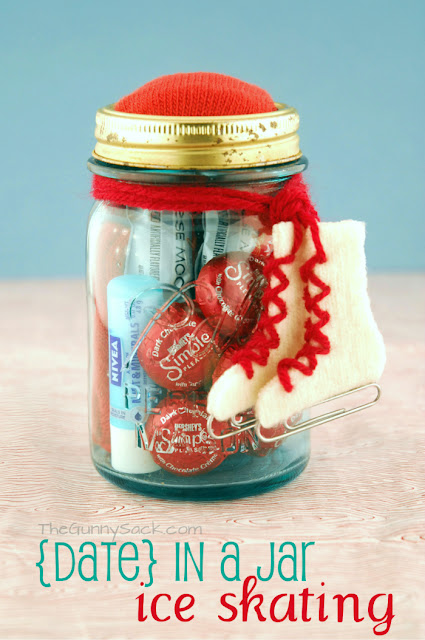 Ice Skating Date In A Jar for Valentine's Day