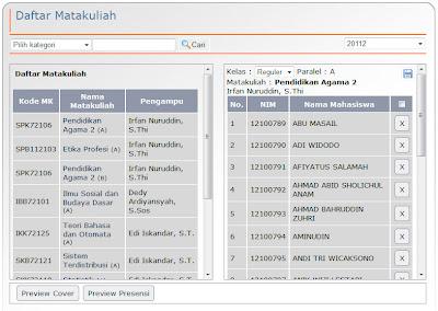 Penentuan kelas mahasiswa - Sistem informasi akademik kampus online