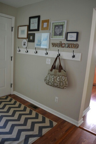 Coat rack entryway decor